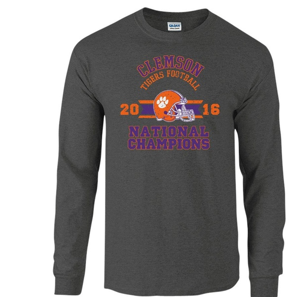 886557d7 Elite Fan Shop NCAA Mens Long Sleeve T Shirt Charcoal Victory Sports &  Outdoors