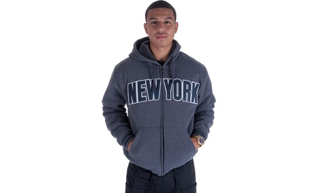 Men's Long Sleeve 'New York' Fleece Zip Hoody b1866878-d210-4e12-bde7-7c7f8f6e7a5f