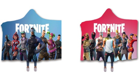 Fortnite 3D Warm Blanket With Hoodie