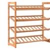 4 Tier Bamboo Shoe Rack Entryway Shoe Shelf Holder Storage Organizer