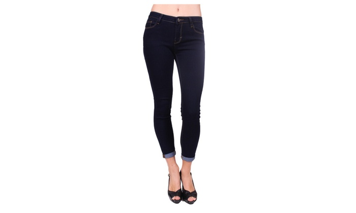 Cello Jeans Women Push Up Levanta Cola Skinny JeansYJ15102DARK