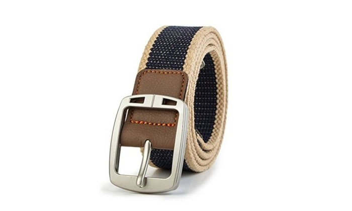 Military-Style Men'S Belt Tactical Canvas Web Belt Woven belt