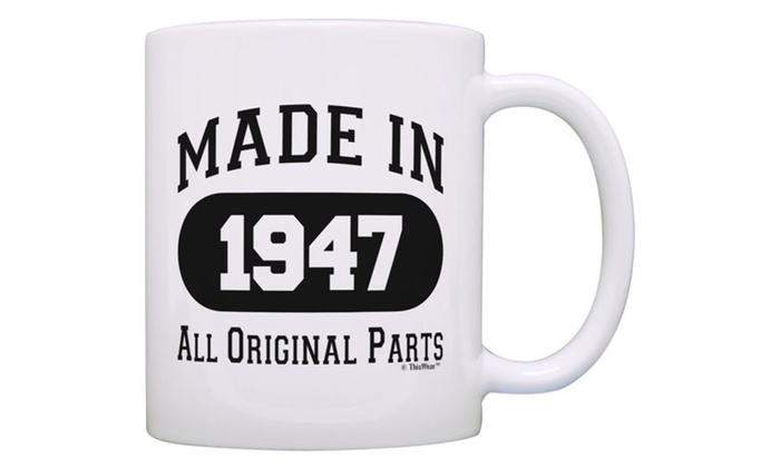 70th Birthday Gift Made Party Coffee Mug Tea Cup White