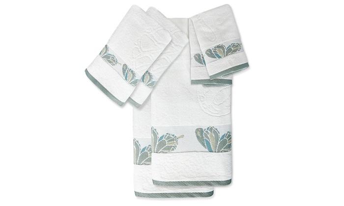 Decorative Bath Towel Sets Unique Butterfly Decorative Bath Towel Set 60Piece Groupon