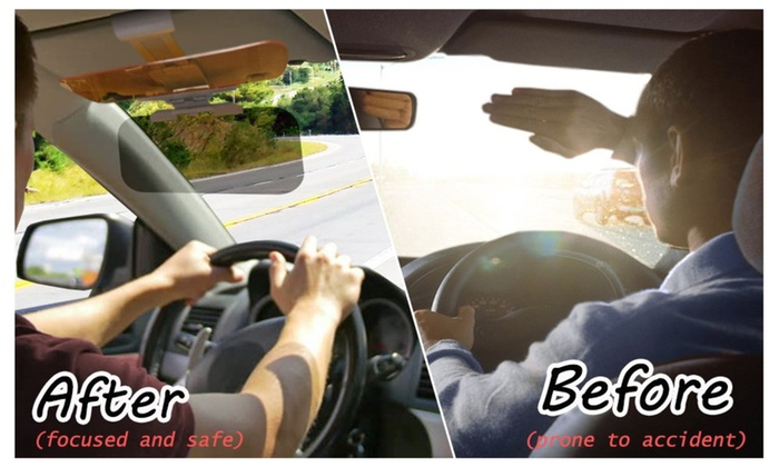... Transparent Windshield Car Sun Visor Day and Night Vision Anti-glare ... 87639de9c7c