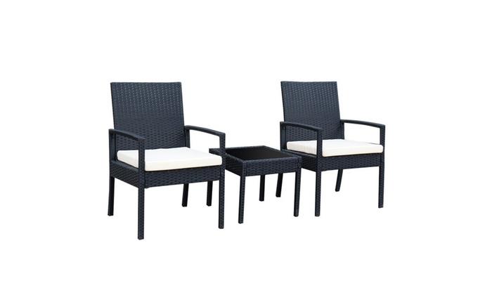 Amazing Tangkula 3 Piece Patio Furniture Set Rattan Outdoor Patio Set Andrewgaddart Wooden Chair Designs For Living Room Andrewgaddartcom