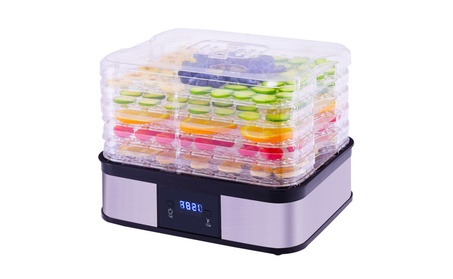 Costway Food Dehydrator Preserver 5 Tray Fruit Vegetable Dryer photo