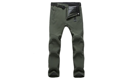 Men Warm Windproof Waterproof Tactics Fleece Pants Trousers
