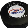 Mike Eruzione Autographed USA Hockey Puck Inscribed 80 Gold  (MAB - ME