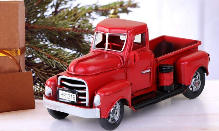 Up To 74 Off On Vintage Red Metal Truck Chris Groupon Goods