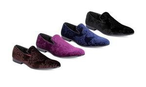 Men's Slip-on Velvet Smoking Loafers