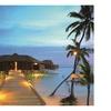 LED Lighted Tropical Paradise Island Beach Scene Canvas Wall Art
