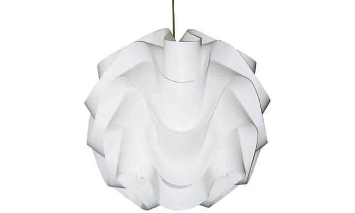 1-Light Polished Chrome Pendant with White Vinyl Shade
