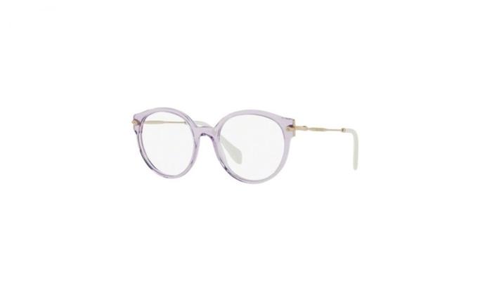 Miu Miu Eyeglasses MU04PV U69101 Transparent Lilac Frame / Clear ...
