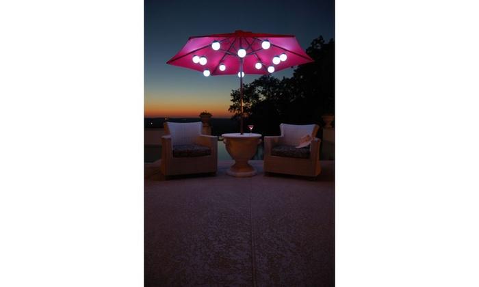 Clarke 12 Color Changing Led Globe Umbrella Lights Groupon