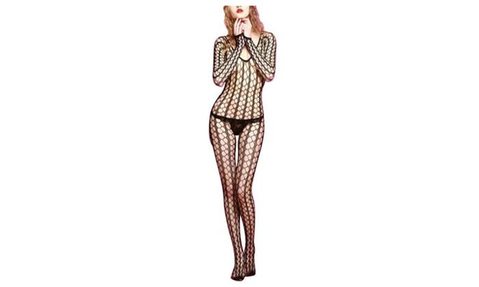121d7d9b2f7 Women s Sexy Lace Sheer Lingerie Sleepwear Mesh Body Stockings