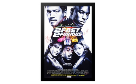 2 Fast 2 Furious Movie Poster - Signed by Cast - Framed with COA 71c85f14-e243-4efe-b698-db18634777a0