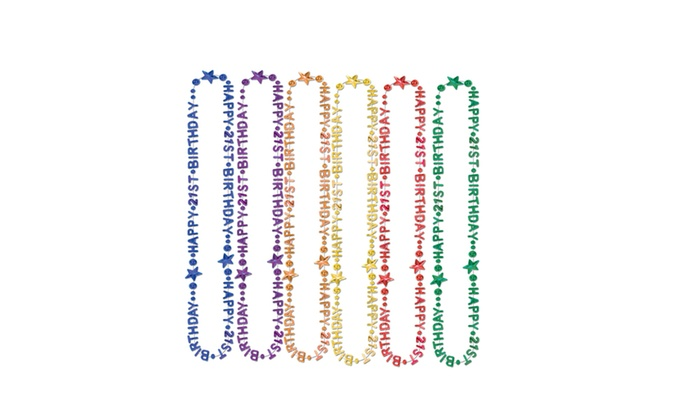 Beistle Party 21st Birthday Beads Of Expression 36 12 Pack 1