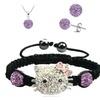 Trendy Cute Cat Ball Neckalce & Bracelet & Earrings Set for Girl