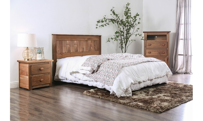 Furniture Of America Dustin Rustic American Pine Wood Headboard