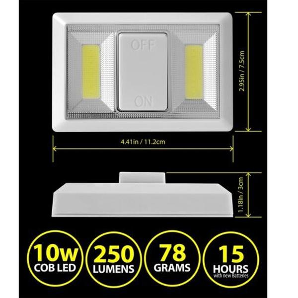 White COB LED Magnetic Light Battery Inspection Work Light Under Cabinet Closet
