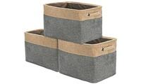Sorbus Large Storage Baskets (3-Pack)