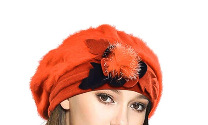 4cc4b8a6e51 ... Lady French Beret Wool Beret Chic Beanie Winter Hat ...