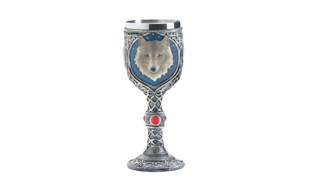 Medieval Celtic Inspired Timber Wolf Stainless Steel Lined Goblet fabc56f0-90f1-4d9b-b0d3-432520009c26