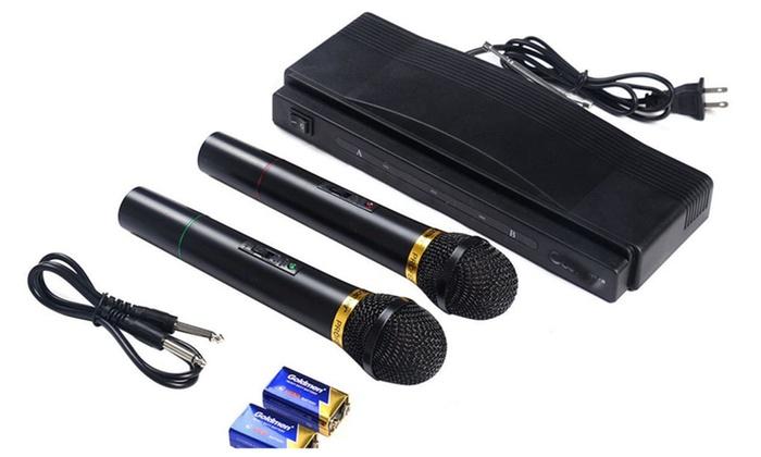 ALMA DBA:  Superior Costwayl Wireless Microphone System Dual Handheld w/ 2 Mi