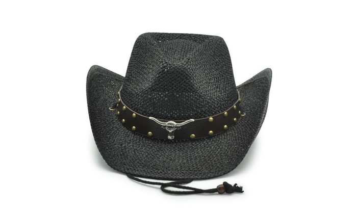 Old Stone Longhorn Men s Cowboy Drifter Style Hat Black for Hiking ... 3cace1ce1c1