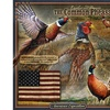 American Expedition Square Tin Art Sign - Pheasant