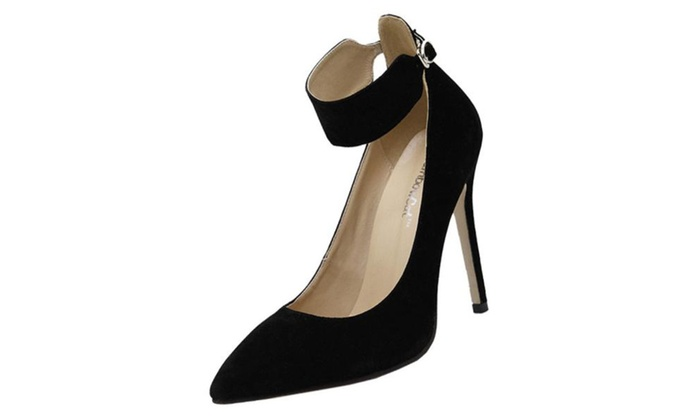Women's Pointed Toe Buckle High Heels