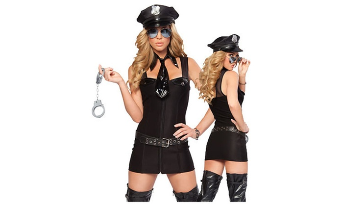 Women's Above the Law Sexy Police Costume – Black / one size