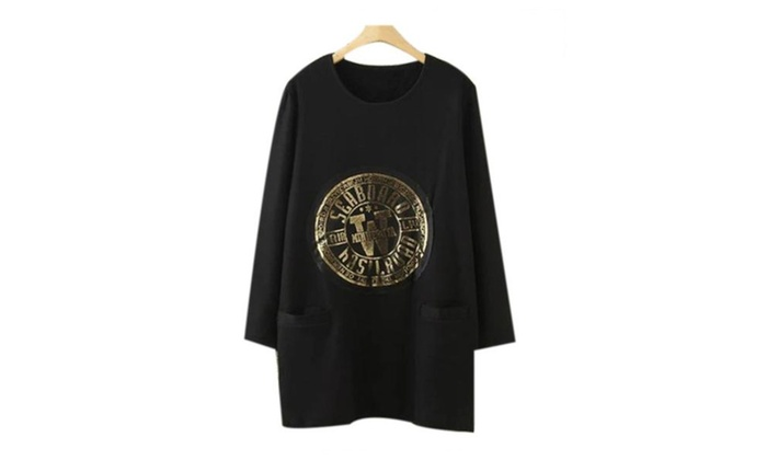 Women's Regular Fit Casual Glyph Printing Sweatshirt