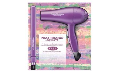 BaByliss Nano Titanium Hair Straightener / Flat Iron & Blow Dryer Set 4b297f8d-0731-4499-a271-d89fdd561ec4