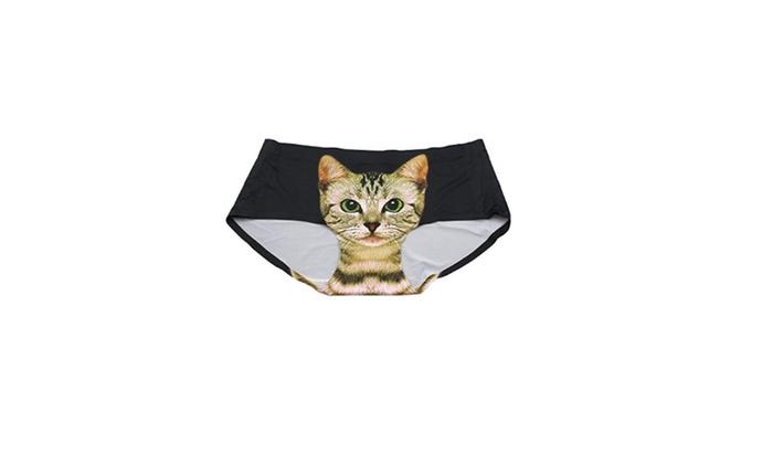 f4af5d9d0ba5 Womens Seamless Cute Pussycat Stretchy Panties Underpants Underwear