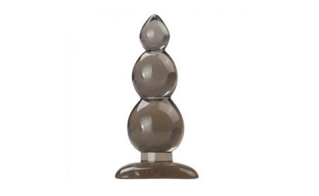 Gourd Shape Black Soft Anal Toys Insert Waterproof Erotic Plug 0e2af203-5dfc-4bb7-a58b-7a5faf41d4a2
