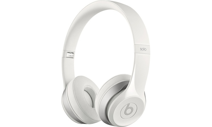 Beats By Dr Dre White Mh8x2am B Wht Solo2 Wired Headphones Groupon