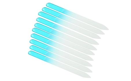 10 PCS Crystal Glass Nail File 5.5 inch Nail Care Salon Sky Blue 597f19cd-0d72-408c-920c-36695c6bc7e6