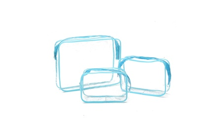 Transparent Cosmetic Bag PVC Travel Organizer Makeup Storage Wash Case