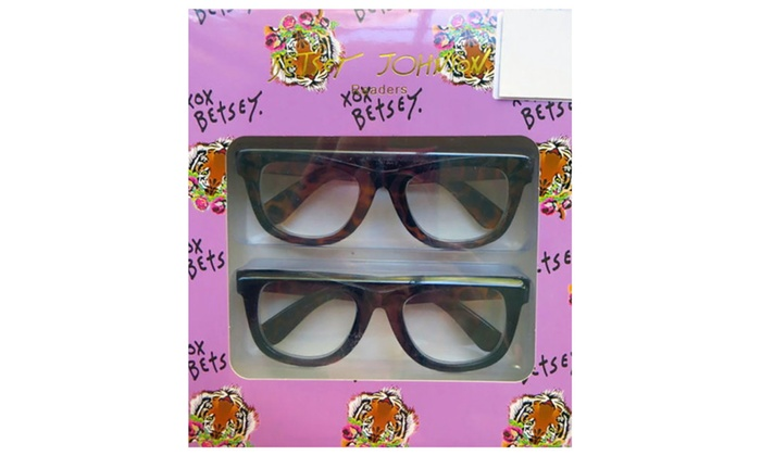 8cc0a231a2e Betsey Johnson Animal Print Reading Glasses 2 Pack +1.50 Readers ...