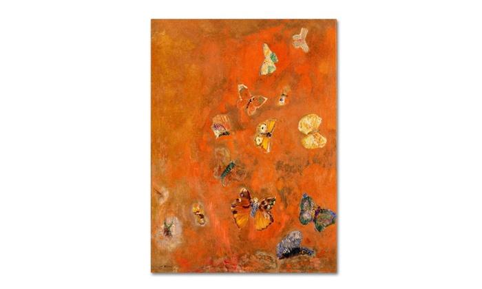 Odilon Redon \'Evocation of Butterflies 1912\' Canvas Art | Groupon