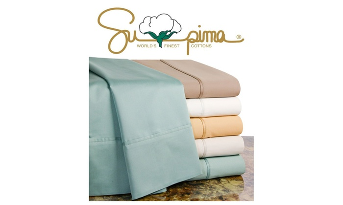 Supima 600 Thread Count 100% Pima Cotton Sheet Set   Cal King ...
