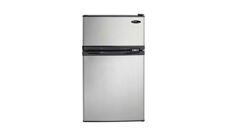 Danby 3.1 Cubic Feet 2-Door Compact Refrigerator, Steel photo