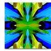 Amy Vangsgard Paradise BLue and Green Canvas Print