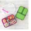 Food Container Collapsible Silicone Eco Lunch Box w/ Reusable Spork