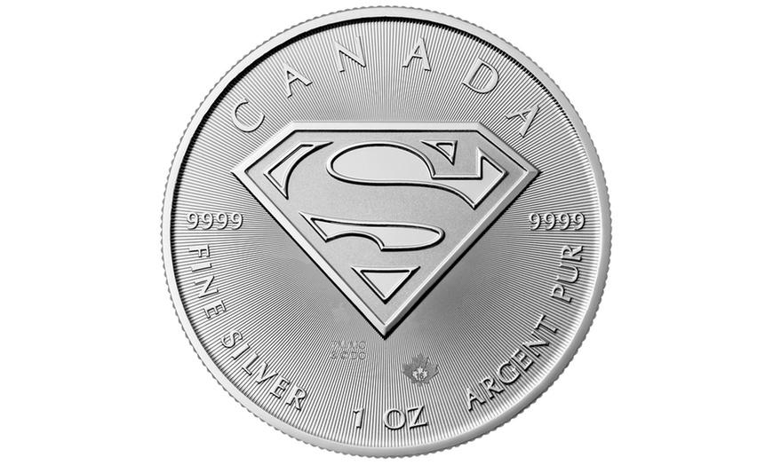 Superman Coin Elizabeth II BU $5 Coin Canada 1OZ Silver 2016