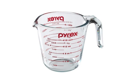 Glass Measuring Cup Durable 2 Cups Liquid Measurement Prepware Kitchen daf873fa-59ec-44f4-b40d-774999ab7b13