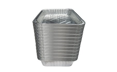 Set of 50 Small Disposable BBQ Drip Pan Tray Aluminum Foil Tin liners 8fe2ef95-a2b1-43ec-920f-77d5fabd1123