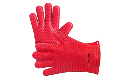 X-Chef Silicone Gloves, Heat Resistant Oven Mitts BBQ Gloves c70f1b1f-0d95-4bff-b47e-d1d9b3f1d369